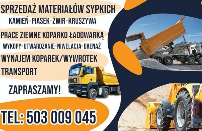 Piasek Kamień Kruszywo Transport Koparka Bruki Droga Gruz Żwir Żużel