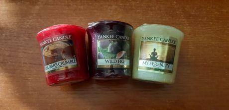 Zestaw 3 sztuk samplerów Yankee Candle, votive, Nowe, zafoliowane