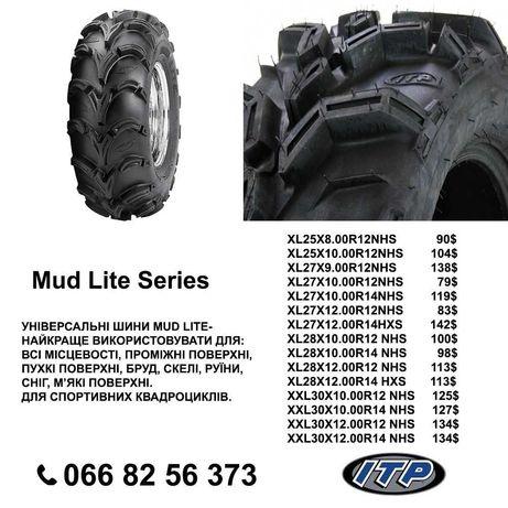 Шина, резина, колеса на квадроцикл ITP Mud Lite Series. XL 25×8-12