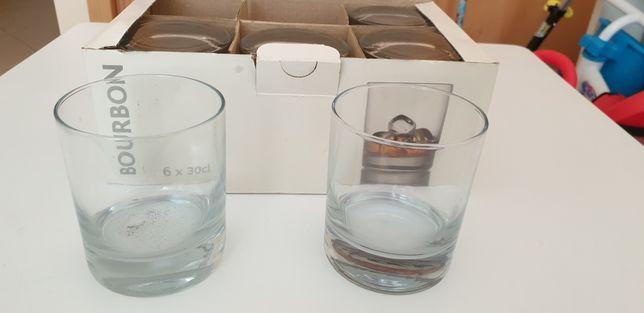 6 copos whisky novos na caixa