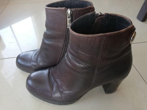 Botki brązowe buty skóra roz. 36 SIMEN