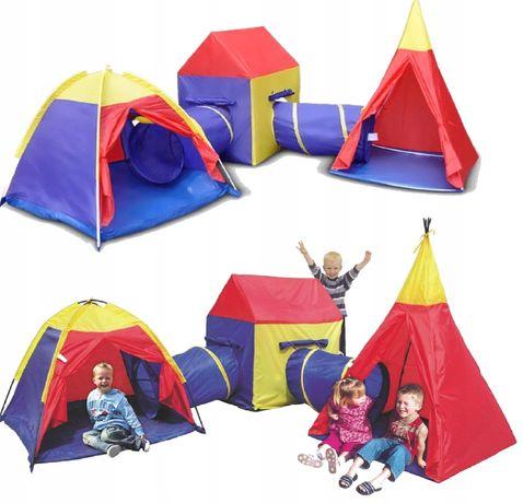 Namiot Dziecięcy Domek Tunele Wigwam Iglo Zestaw 5W1 8906