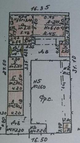 Продам дом на участке 5,5 соток земли, 13. Фонтана . Фасад 16.5 м.