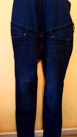 Spodnie ciążowe dżinsy granatowe mama skinny higt rib 44