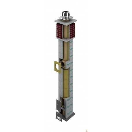 System kominowy ZAPEL ECO S 160 MM bez wentylacji