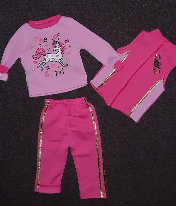 Тёплый костюм, комплект (3ка) для девочки на 2 года +/- Днепр - изображение 1