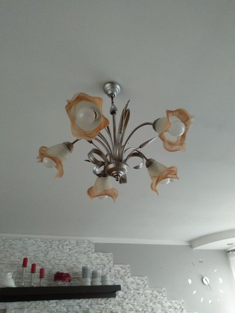 Lampa sufitowa pięcioramienna