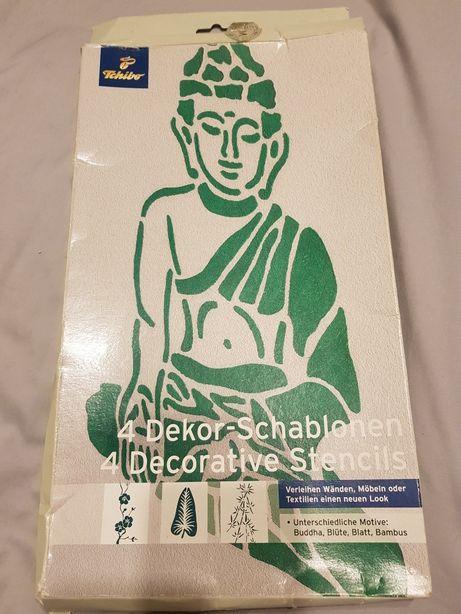 Szablony do malowania ścian Budda Liść Bambus Tchibo