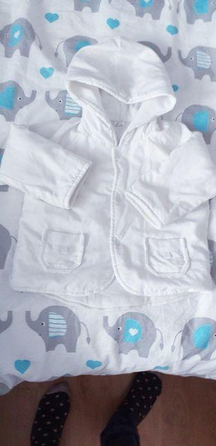 Biała kurteczka do chrztu i nie tylko