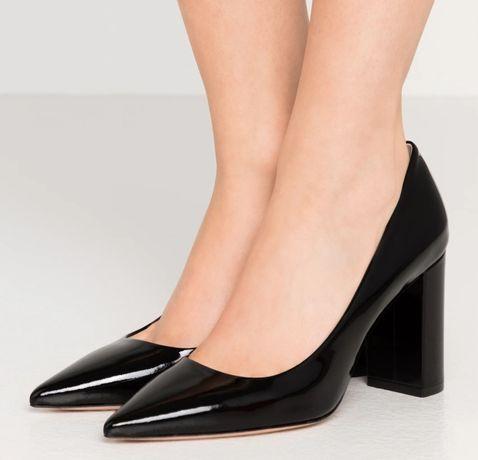 Hugo Boss skórzane pantofle rozmiar 40