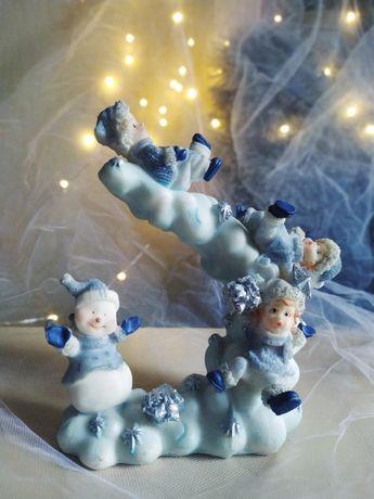 Świecznik zimowy, dekoracja