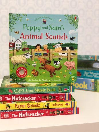 Poppy and Sam Animal Sounds,Usborne музыкальная игрушка книга