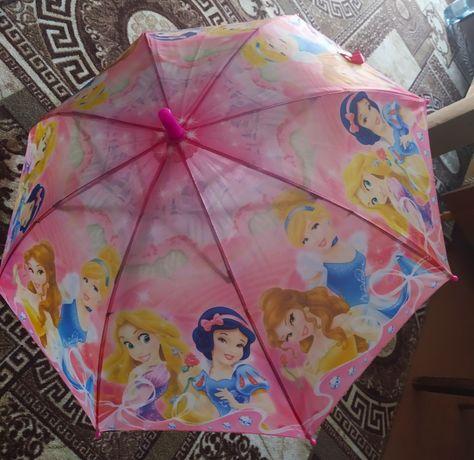 Детский зонтик с принцессами