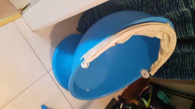 Fotel kręcony dla dzieci Ikea PS LÖmsk niebieski