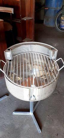 Grilhadores churrasqueiras desmontáveis de 2 posições inox