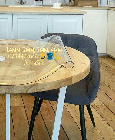 """Скатерть """"мягкое стекло"""", плотная и прозрачная, покрытие для мебели"""