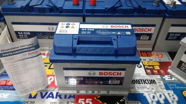 Akumulator Bosch S4005 12V 60Ah 540A E44 P+ dowóz montaż Kraków Azory