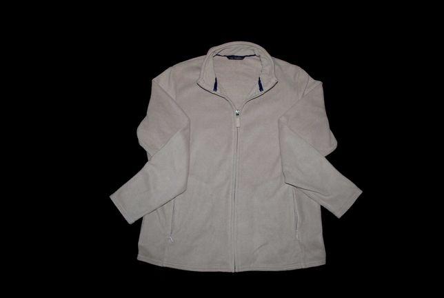 Флисовая кофта на молнии свитер бежевый бренд M&S Германия XL 2XL