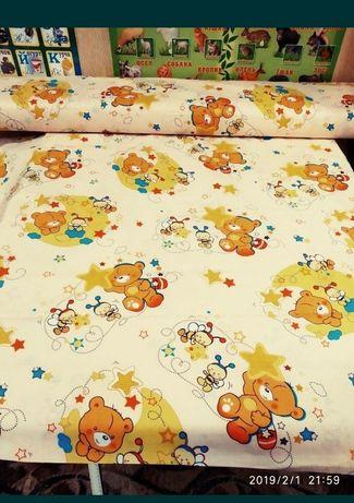 Ткань для постельного белья БЯЗЬ ГОЛД Пакистан, ширина220, от 1-го мет