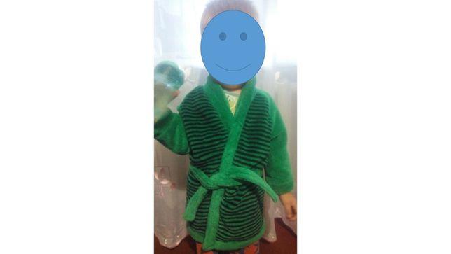 Детский флисовый халат 74-80см
