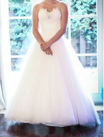 Suknia ślubna Sweetheart 6000, asymetryczna, krótszy przód
