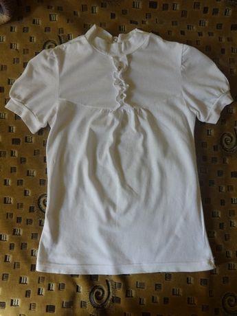 Красивая нарядная футболка для девочки в школу, 6-7 лет Smil
