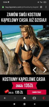Piękny nowy kostium kąpielowy bikini Layoners