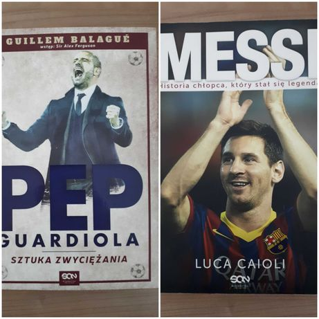 Książki Messi i Pep Guardiola