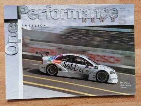 Prospekt/plakat OPEL Motorsport Astra G DTM OPC Performance.