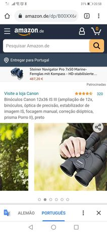 Binóculos Canon 10x30 IS
