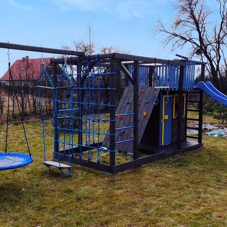 Drewniany plac zabaw, domek dla dzieci, małpi gaj model BLAZE