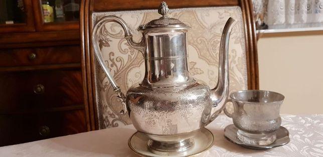 Dzbanek do herbaty - Srebro pr. 950, Francja - połowa XIX wieku