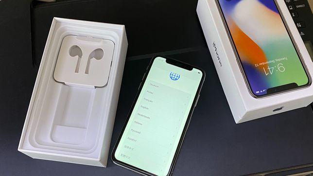 iPhone X 64GB Srebrny / bardzo dobry stan / bez blokad