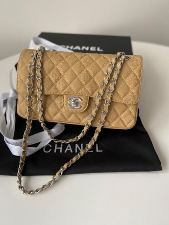 Torebka damska Chanel Wykonana ze skory naturalnej