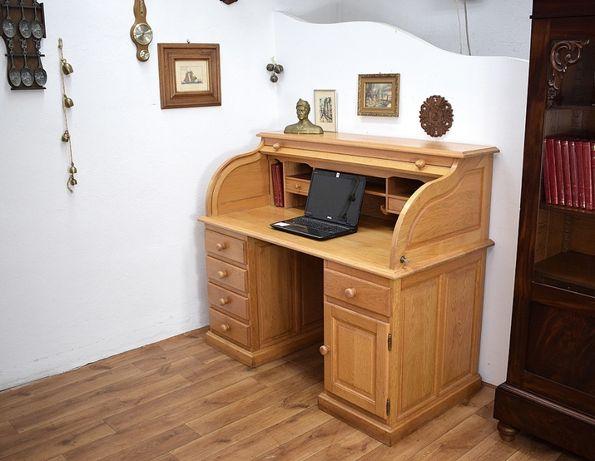 Duża dębowa sekretera biurko z roletą sekretarzyk wysyłam