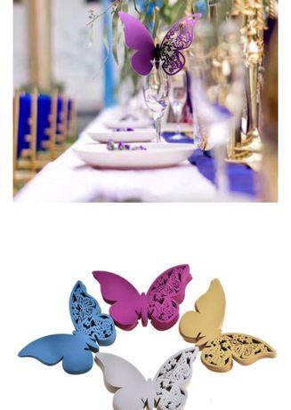 Motyle na kieliszki wesele ślub dekoracje ślubne