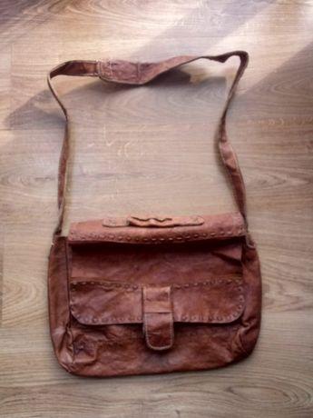 Кожанная сумка ручной работы для ноутбука, документов, планшета