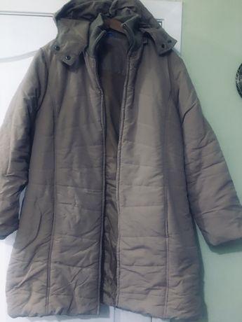 Теплое классное пальто с высоким воротом