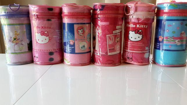 NOWE Hello Kitty Barbie Pet Shop kocyk 130x160 koc dziewczynka NOWE