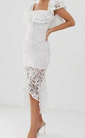 Sukienka biała hiszpanka