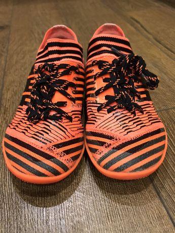 Футбольные кроссовки сороконожки для футзала Adidas Nemeziz