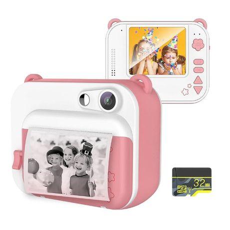 """Câmara Digital com Impressão 1080p 8MP Ecrã 2"""" c/ Cartão SD 32GB NOVA"""