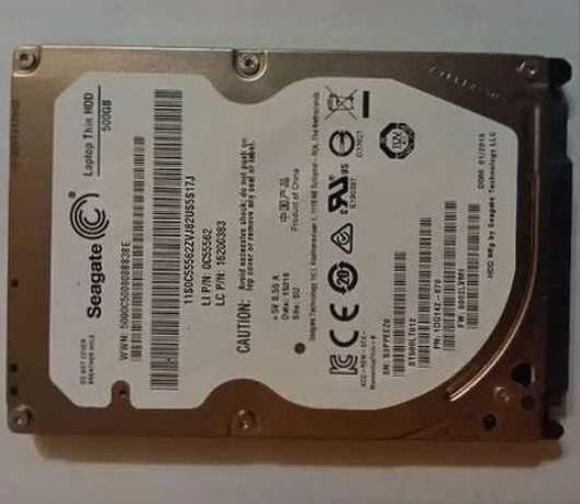 Тонкий жесткий диск Seagate Thin HDD 500GB ST500LT012 SATAII 2,5 дюйма