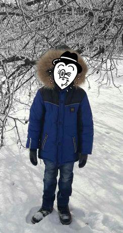 Зимняя куртка на мальчика 7-9 лет