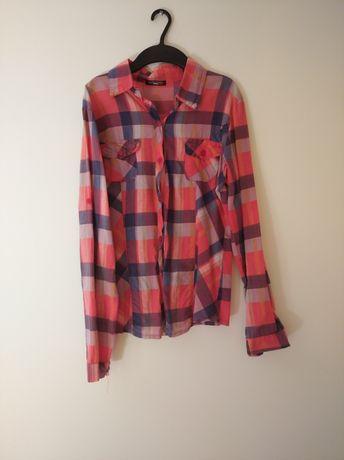 Koszula w kratkę 95% bawełna made in italy