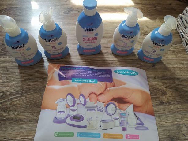 Zestaw dla dzieci Bobini szampon żel nowe Niveababy HIPP derma