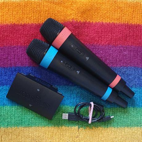 Mikrofony bezprzewodowe Sony + adapter do Singstar Łódź Uniwersytecka