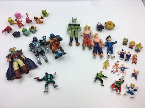 Bonecos PVC anos 80 e 90 / Dragon Ball / Pokemon / Tartaruga ninja