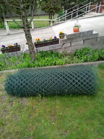 Siatka Aluminiowa Powlekana kolor zielony wysokość 150cm długość 32m
