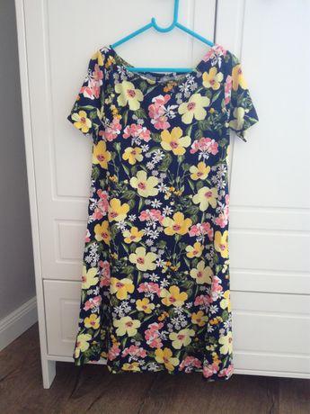 Sukienka w kwiaty 36/38 floral Zara